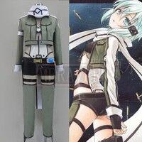 New Sword Art Online Phantom Bullet Asada Shino Cosplay Costume