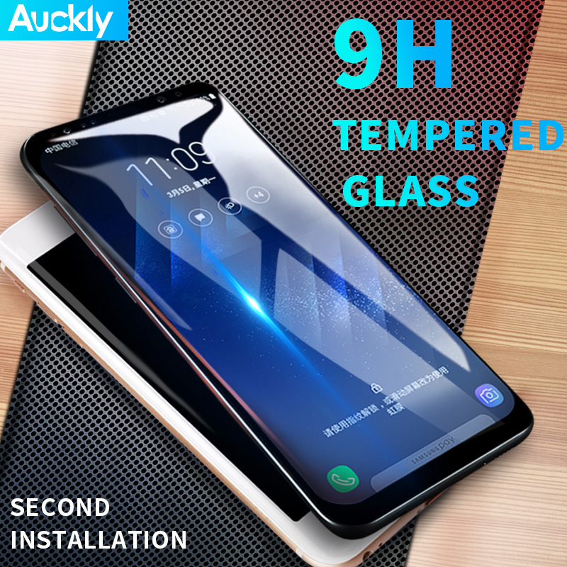 Auckly Tempred Glass Film 6D Curved Round Full Coverage Screen Protector Film For Samsung Galaxy S8
