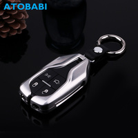 Zinc Alloy Car Key Case Auto Smart Remote Shell Protective Cover Keychain Holder for Maserati Ghibli Levante Quattroporte 2017