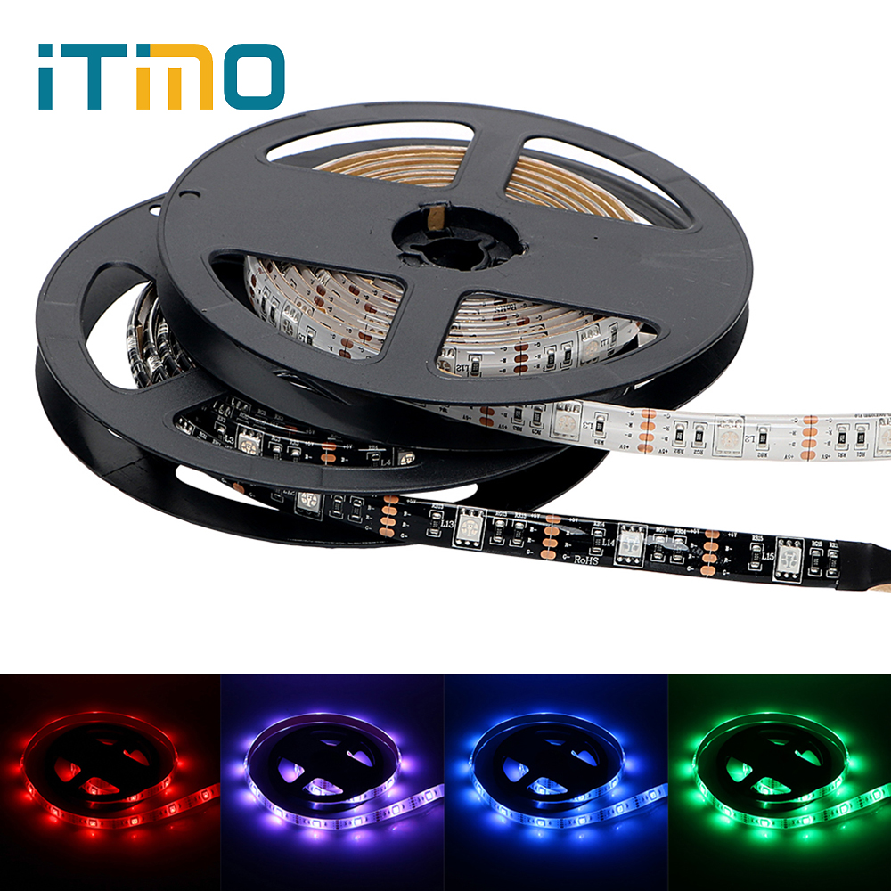 ITimo 1M 2M RGB LED Strip Waterproof 5V TV Background Light DIY Home Decoration 17Key RF Controller USB Holiday LED Lighting