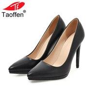 TAOFFEN Size 33 45 Women High Heel Shoes Pointed Toe Thin Heel Pumps Woman Sexy Elegant Shoes Dress Office Lady Footwear