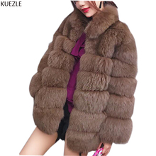 women coats large Winter fashion woman teau faux fourrure femme Korean Slim thick warm fox fur coat Windbreaker