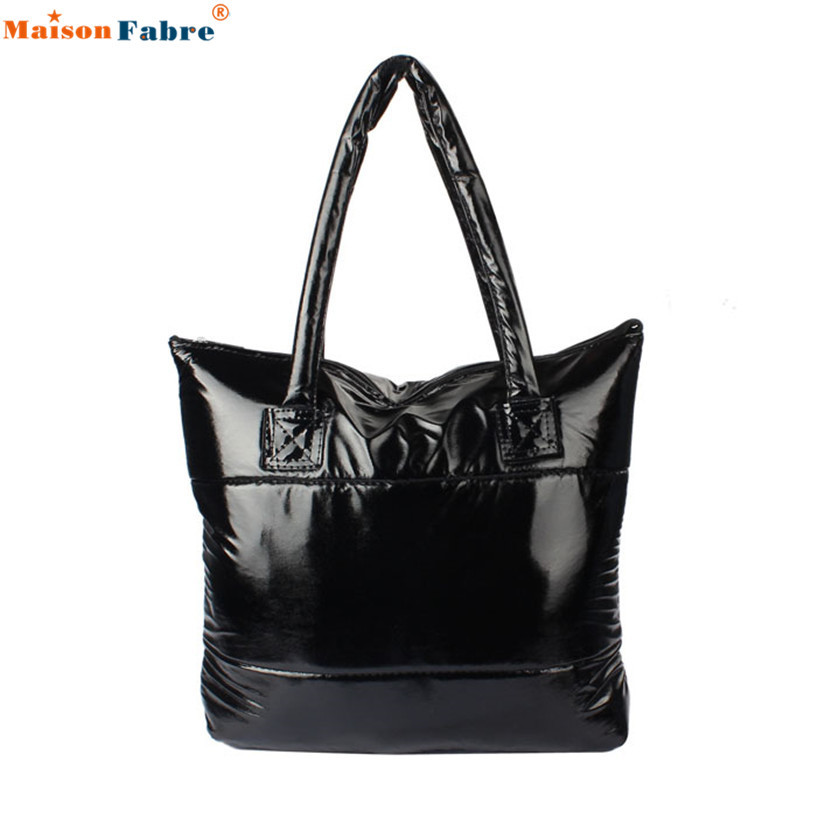 Hot Sale 1PC Women bag Girl Space Bale Cotton Totes Handbag Feather Down Shoulde