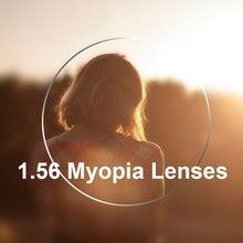 חדש 1.56 עדשות ראייה אחת עבור גברים ונשים ברור אופטי עדשת חזון יחידה HMC, EMI אספריים אנטי UV