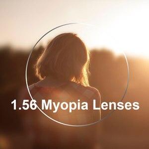 Image 1 - Yeni 1.56 Tek Vizyon Lensler Erkekler ve Kadınlar Için Şeffaf Optik Tek Vizyon Lens HMC, EMI Asferik Anti UV