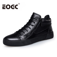 Retro Style Men Shoes 2018 Spring Fashion Genuine Leather Shoes Men Casual Shoes Lace Up Black