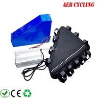 EU US free taxes High power customized triangle shape battery 48V 23Ah Li ion ebike battery for motorbike with triangle bag