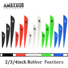 100pcs 2/3/4inch Arrow Feathers Rubber Feather Drop-shape Fletches For Outdoor Bow And Hunting Shooting Accessories
