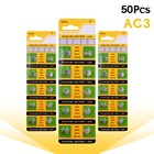 YCDC 50 pcs/lot Alkaline Battery 1.55V G3 AG3 LR41 LR736 V3GA SR41 192 392 Button Cell Coin ag3 button cell 2018 New Arrival