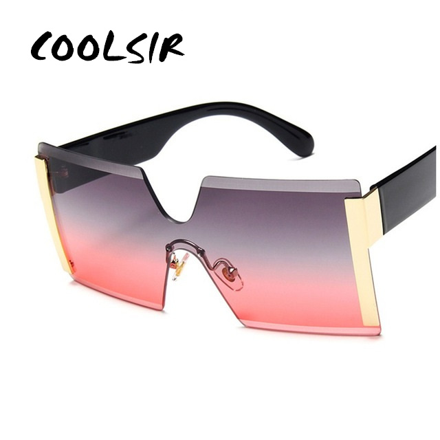 COOLSIR Square Adult Sunglasses Men Plastic Women Color Lens Fashion Atmospheric Lovers