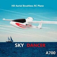 Grande Modelo Do avião do Rc A700 2.4G brushless 3D 6G Sistema de RC de Asa Fixa planador Com Câmera LEVOU luz Brinquedos Avião de controle remoto