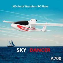 Besar Rc pesawat Model A700 2.4G brushless 3D 6G Sistem RC Sayap Tetap Glider Dengan Kamera DIPIMPIN cahaya remote control Pesawat Mainan