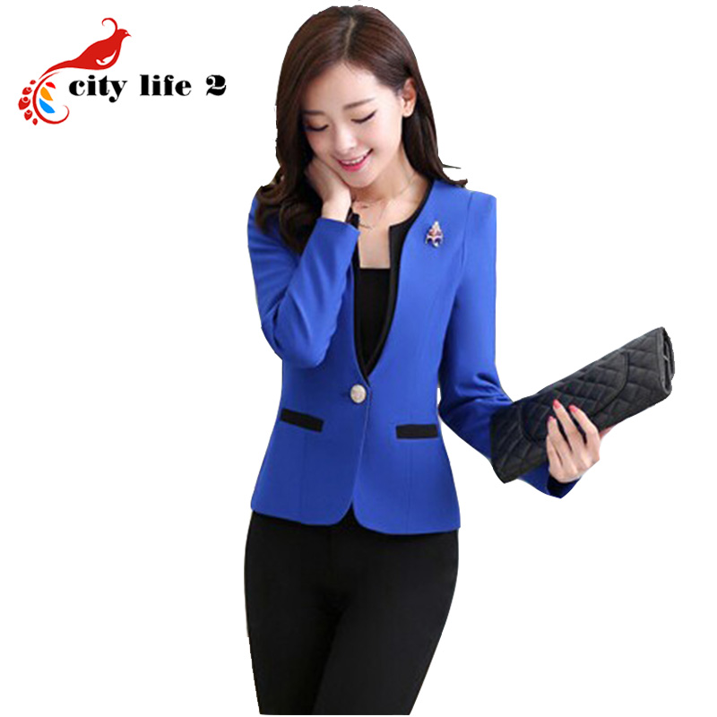 Plus Size S-3xl Dark Blue Women Pants Suits For Work Wear Single Breasted Business Formal Ladies Suits Conjuntos Trajes Pantalon Suits & Sets Back To Search Resultswomen's Clothing