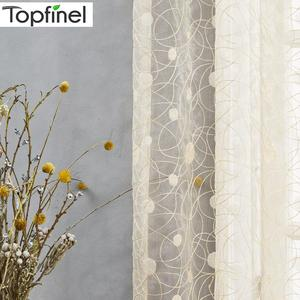 Topfinel New bird nest modern window sheer curtain for kitchen living room the bedroom finished blinds tulle for windows fabric