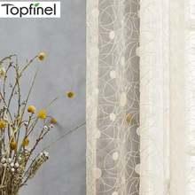Topfinel новый «Птичье гнездо» современные прозрачные Занавески