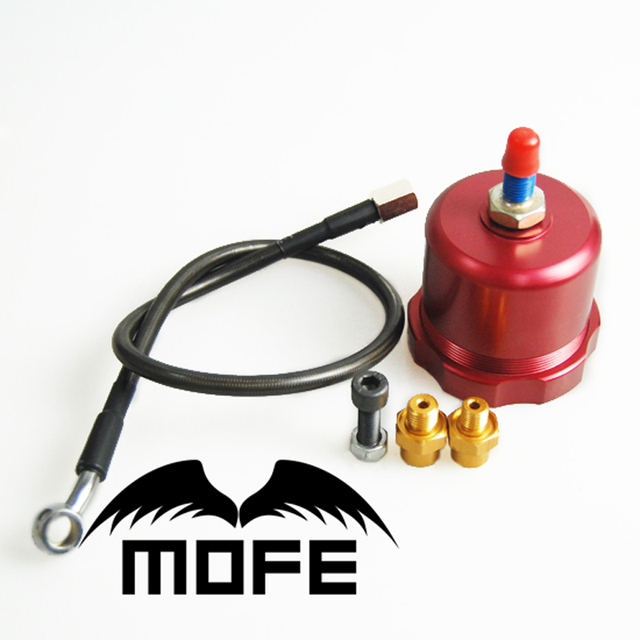 SPECIAL OFFER Hydraulic Drift Handbrake Oil Tank for Hand Brake Fluid Reservoir E-brake +oil line+fitting Red