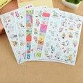 6 Листов/комплект Кролик Книга Наклейки Для Дневник Записки Календарь Notebook Label Мобильного Телефона Украшения Девочка Игрушки
