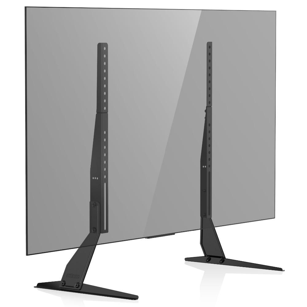 FITUEYES Universal LCD Flat Screen TV Table Top Stand / Base Mount Fits 50inch To 65inch TV TT06802MB лыжи беговые tisa top universal с креплением цвет желтый белый черный рост 182 см