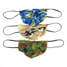 3Pcs/Lot Mens Sexy Underwear Camo Mini Bikini G-strings Thongs Fetish Gays Camouflage T-back Strings Lingerie Wholesale Hot Sale