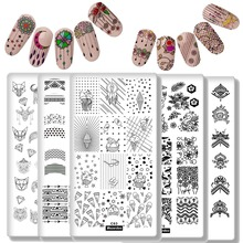 Mixed Design Nail Plates 10Pcs Art Stamping Collection Dream Datcher Frech Flower Star Butterfly Manicure Print Tool