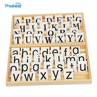 Baby Toy Montessori Cursive Moveable Alphabets with Box for Early Childhood Education Preschool Training Learning Toys