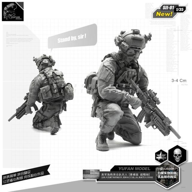 1/35 U. S. Navy Seal Equipe de Assalto Resina Homem SII-01
