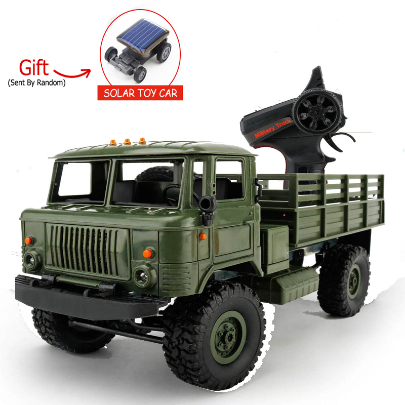 2.4G 4WD Military Truck 1:16 RC Model Car Off-road Vehicle Simulation Toy Car Climbing Truck Remote Control Toys For Boys mst 532141 cmx 1 10 4wd fj40 kit off road car climbing simulation model car