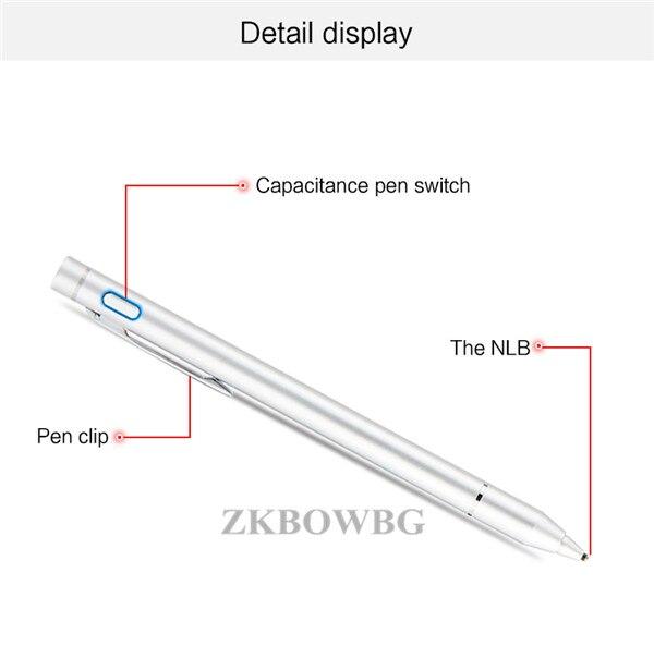 Active Touch długopis pojemnościowy ekran rysik dla Teclast Tbook 10s T20 T10 P80H Octa X10 X98 P98 HP Elite x2 G1 G2 Tablet ołówek