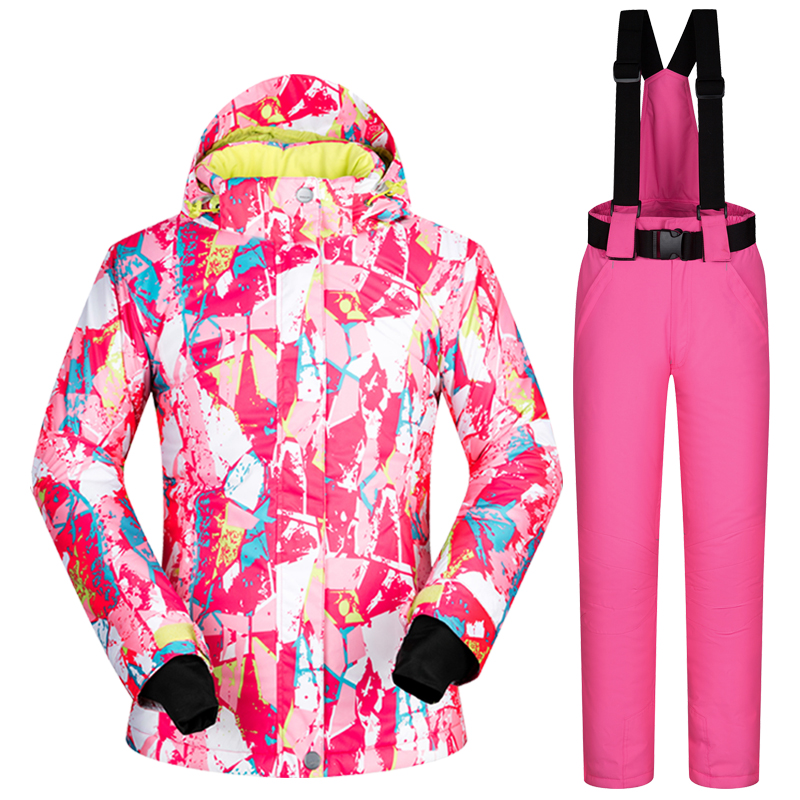 Snowboarding Suits Brands Winter Women Windproof Waterproof Warm Female Sets Ski Clothing And Snow Pants Outdoor Ski Suits Women men s outdoor ski suits snowboard suits waterproof and windproof winter snow suits bibs warm ski pants large size s xxxl