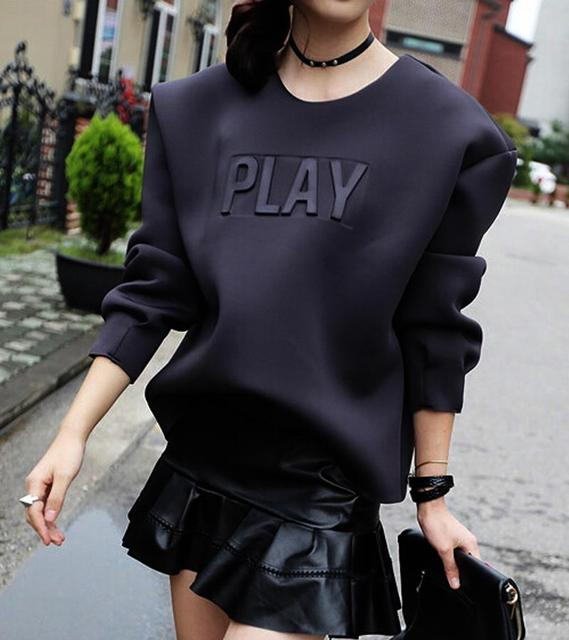 2015 Play hoodies women korean fashion designer hoodies sweatshirts ladies  neoprenen air brand loose hoodie pullover Nora201031 1f7f4aef4fef