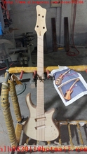 new Big John semi-finished 4 strings electric bass guitar with elm body without hardware no paint F-3408