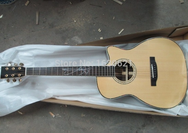 "2017 NEW + Factory + 6 strings acoustic guitar Custom Lakewud acoustic sitka top rosewood body handmade 41"" acoustic guitar"