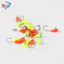 Cheap fishing lure jig head 1.1g ice fishing jig head hook hard lure bait hooks wobbler 10pcs 3 colors for choose tackle