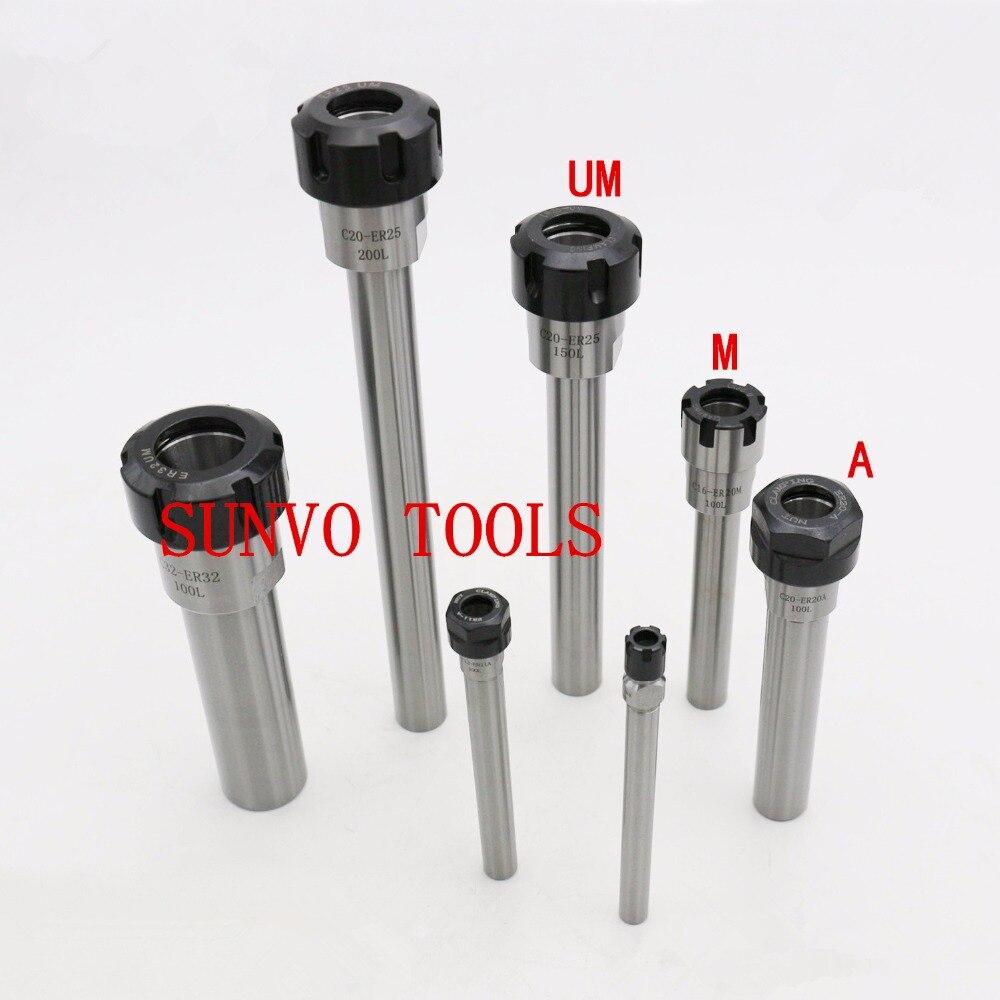 C8-ER11A-100L/C8-ER11M-100L C8 CNC Fräser Halter Gerade Schaft Verlängerung Gebrauch ER8 ER11 Collet ER8A oder ER8M ER Mutter