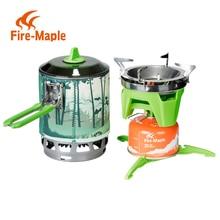 Fireplat X3 0,8L kompakt En-Piece Camping Spisventil Värmeväxlare Pot campingutrustning set Flash Personal Cooking System