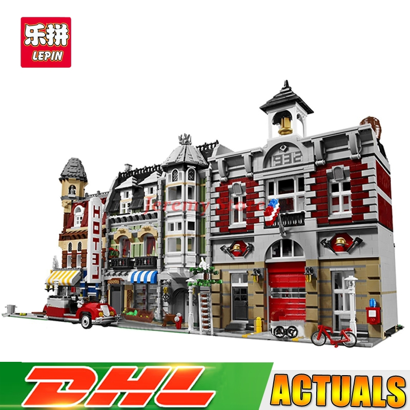 Lepin Street View Series 15002+15004+15008 Educational Building Blocks Bricks Model Toys Christmas Gifts 10182 10197 10185 цена