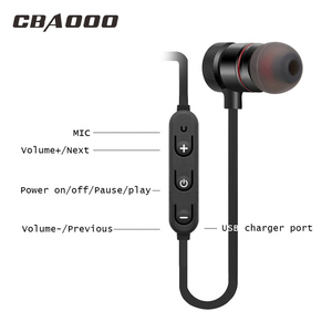 Image 4 - CBAOOO Bluetooth Earphone Wireless Headset Sport Magnetic Waterproof Hifi Bass with Microphone for android iphone xiaomi
