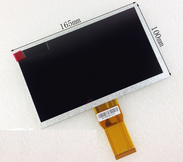 New 7 Inch Replacement LCD Display Screen For TELEFUNKEN TF-MID706G 1024*600 165*100*3mm tablet PC Free shipping 7 inch fpc3 w70045a0 mid lcd 5mm thickness