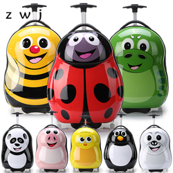 Cartoon wheeled luggage+backpack 3D animals children suitcase/ABS PC travel trolley suitcase/kid luggage