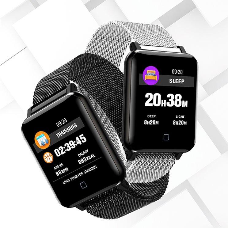 M19 montre intelligente pression artérielle hommes fréquence cardiaque sport Bracelet intelligent podomètre IP67 étanche Bluetooth horloge Bracelet de montre