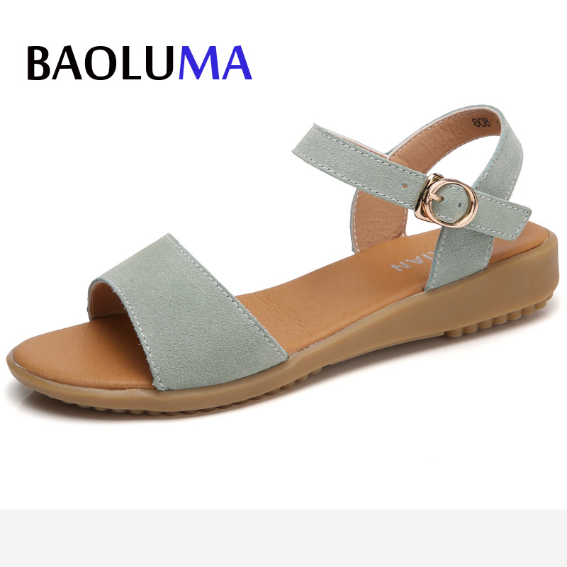 Womens Wedges Summer Gladiator Sandals Women Aged Leather Flat Fashion Women Shoes Casual Occasions Comfortable Female Sandals fashion summer gladiator women flat fashion shoes casual occasions comfortable sandals round toe casual peep toe flat shoes s