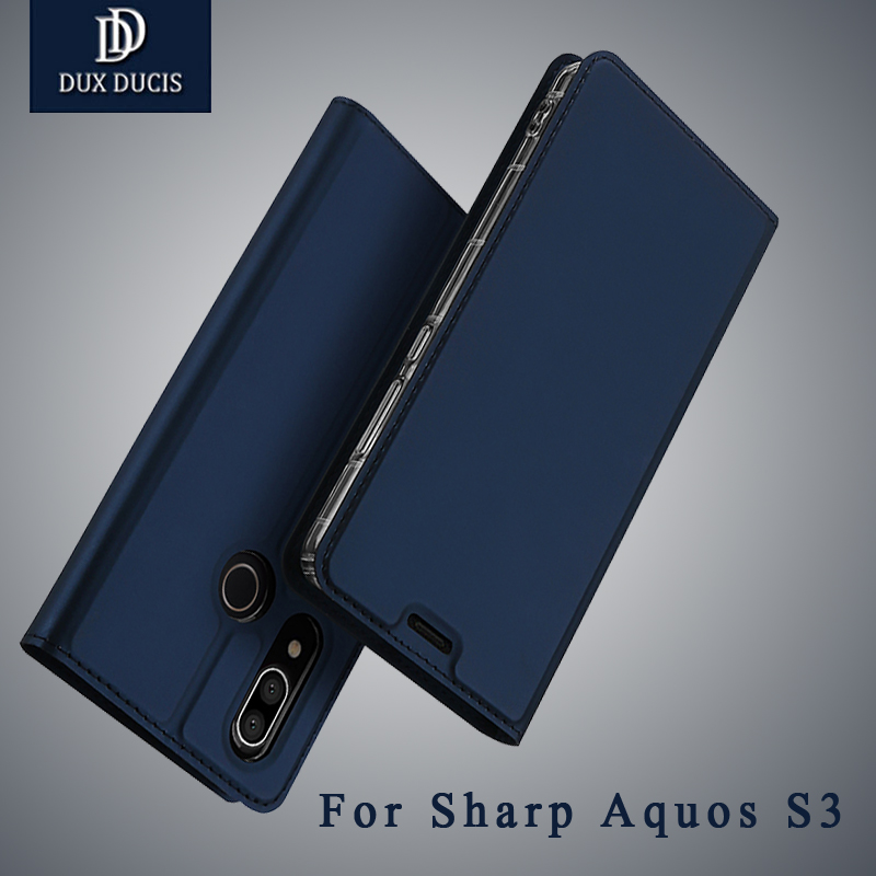For Sharp Aquos S3 Leather Silicone Soft Case Aquos S3 Flip Cover Wallet Cases For Sharp