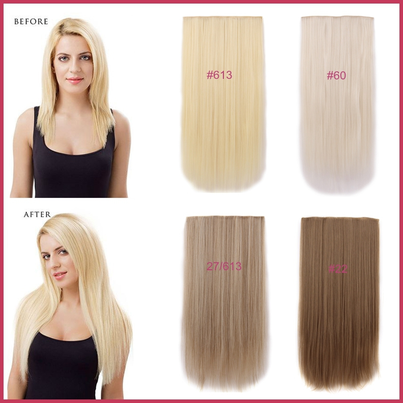Free Shipping 1pc 24 60cm 130g Sythetic Long Straight Women Hair