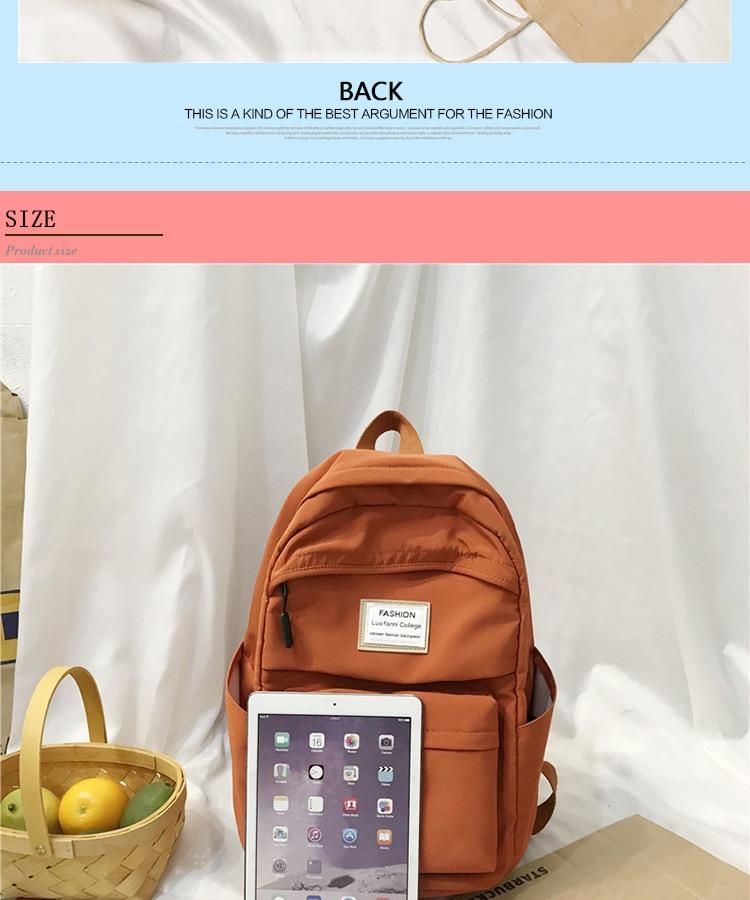 HTB1smaba.GF3KVjSZFoq6zmpFXaL 2019 New Backpack Women Backpack Fashion Women Shoulder nylon bag school bagpack for teenage girls mochila mujer