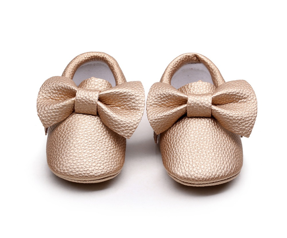 New-style-Pink-PU-Leather-Baby-Moccasins-Bow-soft-bottom-child-boys-girls-First-Walkers-fringe-infant-toddler-baby-shoes-0-24-M-2