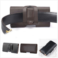 2016 Luxury Genuine Leather Men Waist Bag Clip Belt Pouch Mobile Phone Holster Cover Case For