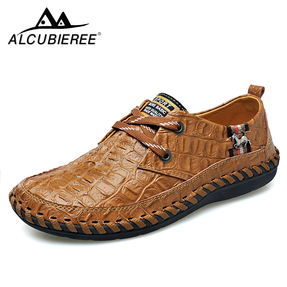 38-44Luxury Designer Sneakers Men Genuine Leather Shoes Loafers Flats Moccasins Men Casual Shoes Slip on Adult Male Footwear