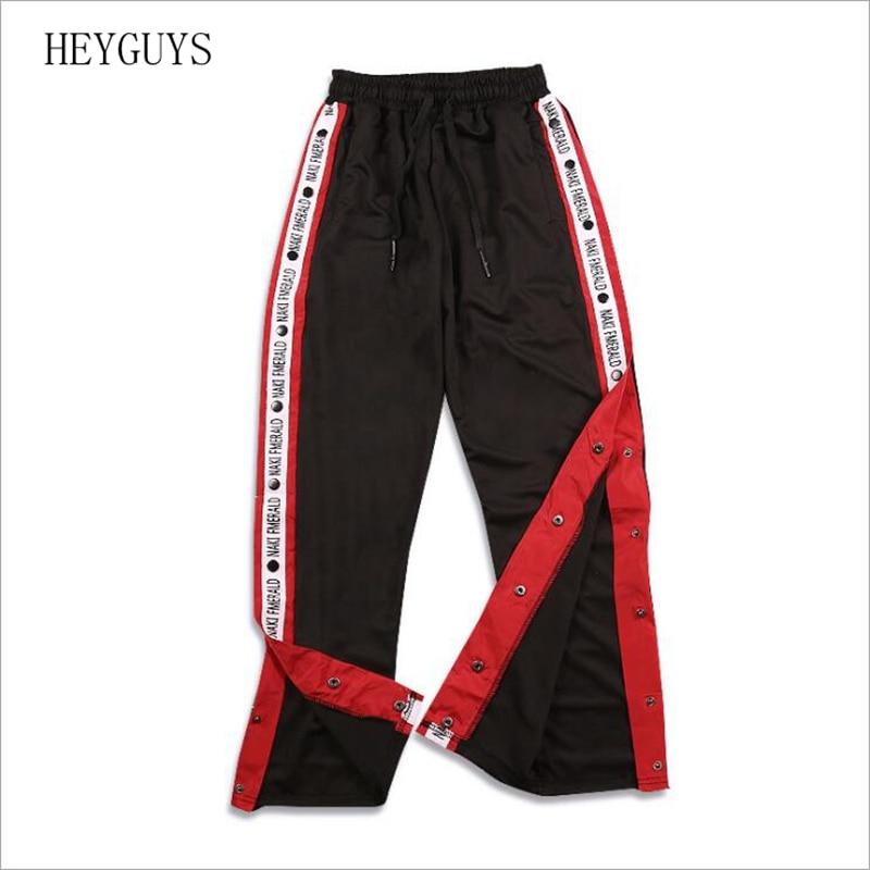 2020 Autumn Brand And Hip Hop Men's Pants Ribbon Ribbon Sports Pants Men's Side ForkThe Side Open Leisure Retro Pants Couples