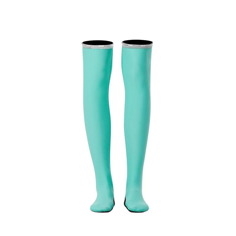 1,5 мм неопрен бикини гидрокостюм УФ Защита с длинным рукавом Дайвинг костюм купальный костюм серфинг подводное плавание чулки купальники - Цвет: Stocking Blue
