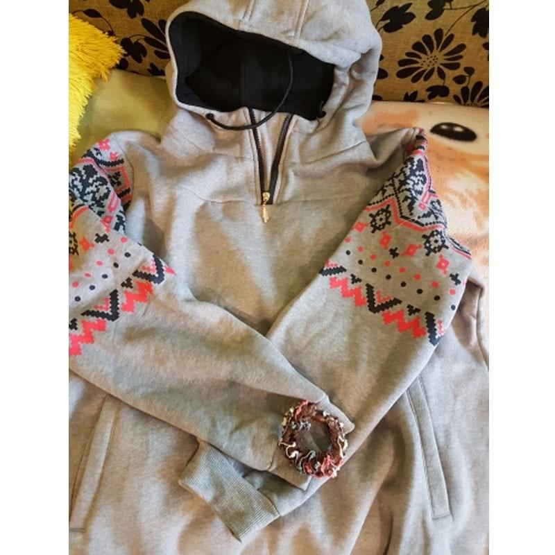 Smiao 2018 Langarm Female Hoodies Herbst Frauen Sweatshirts Dick Plus - Damenbekleidung - Foto 4